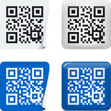 Sticker QR code Stock Photography