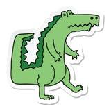 Sticker of a quirky hand drawn cartoon crocodile. A creative illustrated sticker of a quirky hand drawn cartoon crocodile vector illustration