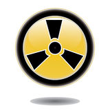 Sticker radiation hazard symbol Royalty Free Stock Images
