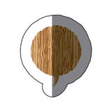sticker realistc wooden texture circular dialog box Royalty Free Stock Photography