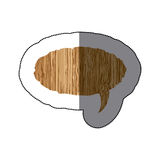 sticker realistc wooden texture oval dialog box Royalty Free Stock Photo
