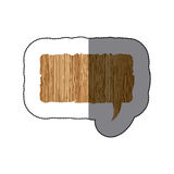 sticker realistc wooden texture rectangle dialog box Stock Images