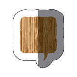sticker realistc wooden texture square dialog box Royalty Free Stock Image