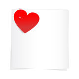 Sticker and red hearts Stock Images