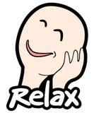 Sticker relax. Creative design of sticker relax stock illustration