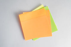 the sticker reminds notes and other records stock image