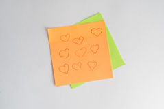 The sticker reminds notes and other records, Royalty Free Stock Image