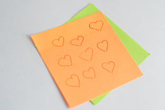 the sticker reminds notes and other records, royalty free stock images