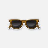 Sticker retro sunglasses horn-rimmed glasses Stock Photos