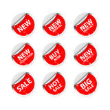 Sticker Sale Tag. On white background. on white background Stock Photography