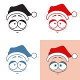 Sticker Santa Claus kind smile  Good  Emotions Vector set. Sticker Santa Claus kind smile. Good. Emotions. Vector set Royalty Free Stock Photo