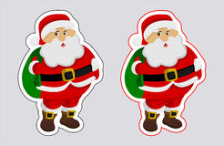 A sticker santa claus with outline color Stock Photography