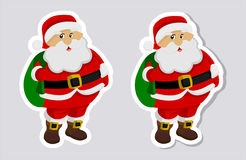 A sticker santa claus with and without shadow Stock Photo