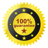 Sticker with satisfaction guarantee Royalty Free Stock Images