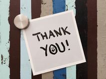 Sticker saying thank you Stock Images