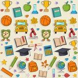 Sticker school pattern Stock Photography