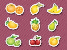 Sticker series of fruits. Illustration of fruits on a background vector illustration