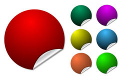 Colorful spheres. Illustrated colorful spheres with cut out on white Royalty Free Stock Photography