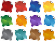Sticker Set - Blank Royalty Free Stock Images