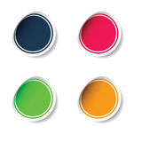 Sticker set color  Royalty Free Stock Photos