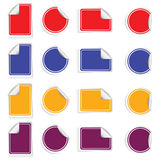 Sticker set color  Royalty Free Stock Photo