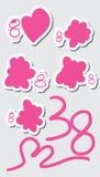 38 sticker set Stock Photo