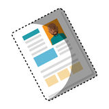 Sticker shading file info with curriculum vitae sheet. Vector illustration Stock Photography