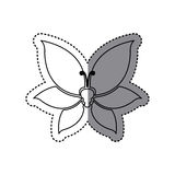 Sticker shading silhouette butterfly insect icon Stock Photography