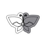 Sticker shading silhouette simple butterfly insect icon Stock Photo