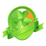 Sticker Shamrock St Patrick's Day Royalty Free Stock Photos