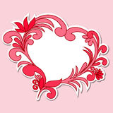 Sticker in the shape of a heart Royalty Free Stock Photography