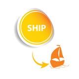 Sticker ship orange  Stock Photography