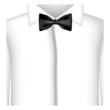 sticker shirt with bow tie icon Royalty Free Stock Photos