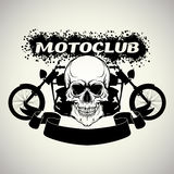 Sticker on the shirt motoclub Royalty Free Stock Images
