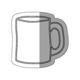 sticker silhouette big porcelain mug utensil kitchen Stock Photo