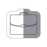 Sticker silhouette briefcase executive icon flat Royalty Free Stock Photo