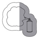 Sticker silhouette can of spray paint icon. Illustration Royalty Free Stock Photography