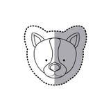 Sticker silhouette close up husky dog animal. Illustration Stock Photos