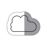 Sticker silhouette cloud in cumulus shape. Vector illustration Royalty Free Stock Photos