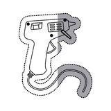 Sticker silhouette electric glue gun icon tool Royalty Free Stock Photography