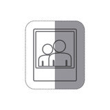 sticker silhouette frame photography couple people icon Stock Image
