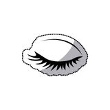 sticker silhouette woman eye closed Stock Images