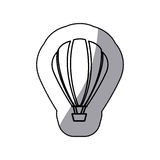 Sticker sketch contour hot air balloon icon Royalty Free Stock Photos