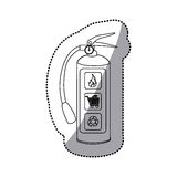 Sticker sketch silhouette fire extinguisher icon. Illustration Royalty Free Stock Photo