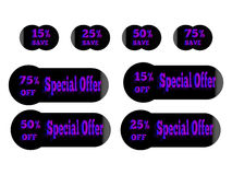 Sticker special offer Royalty Free Stock Image