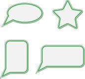 Sticker speech bubble set Stock Images
