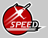 Sticker speed Royalty Free Stock Images