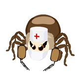 Sticker spider isolated the resuscitator royalty free stock photo