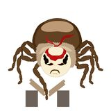 Sticker spider isolated breaks the boards royalty free stock photography