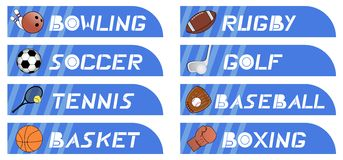 Sticker sport Royalty Free Stock Images